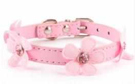 Artleather halsband Little Pink Flower