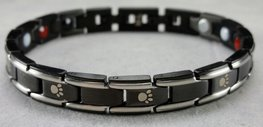 Paw Armband Black/Silver Small