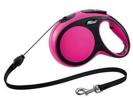 Flexi New Comfort koord M 8 mtr roze