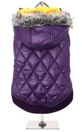 Purple Thermo Quilted Parka