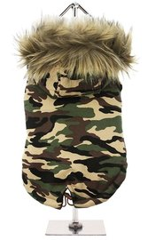 Forest Camouflage Fish Tale Parka