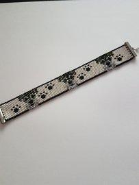 Miyuki armband Schnauzer donker