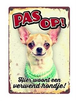 Plenty Gifts Waakbord Chihuahua Verwend Hondje