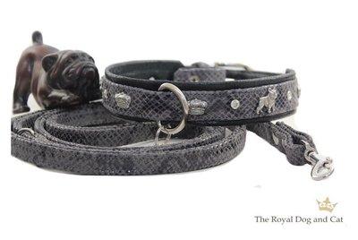 Franse Bulldog halsband grey