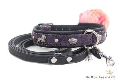 Franse Bulldog halsband purple