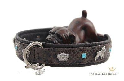 Franse Bulldog halsband brown