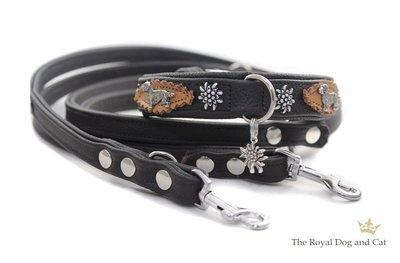 Ruwharige Teckel halsband brown
