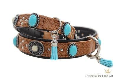 Leren hondenhalsband Sioux