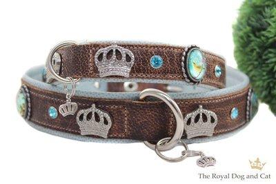 Leren hondenhalsband Jules Vintage Brown