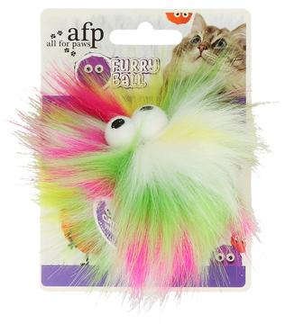 AFP Furry Fluffy Ball Green / Pink