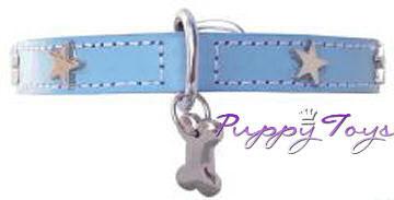 Twinkle Little Star Blue/Silver halsband