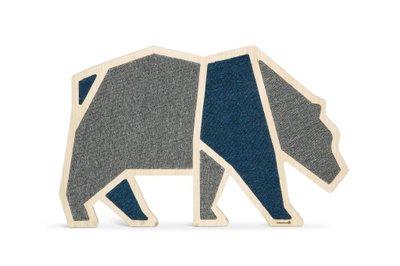 Beeztees houten krabplank Blue Bear 84 x 54 x 1,8 cm