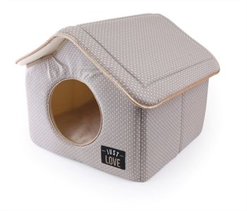 Martin Sellier Huisje Just Love taupe 43x43x40 cm