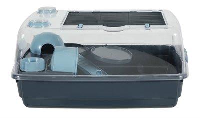 Zolux Knaagdierkooi Indoor2 Vision Hamster Grijs / Blauw 55 x 28 x 38 cm