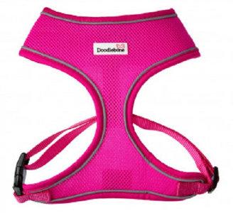 Doodlebone Airmesh Hondentuig XS neon roze