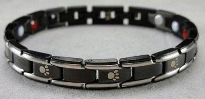 Paw Armband Black/Silver Small
