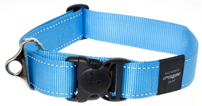 f3aa71aabe8 Rogz for dogs landing strip halsband turquoise - puppyToys.nl