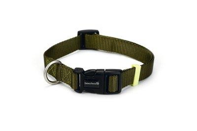 Hondenhalsband Met Licht : Beeztees nylon halsband uni lichtgroen cm mm